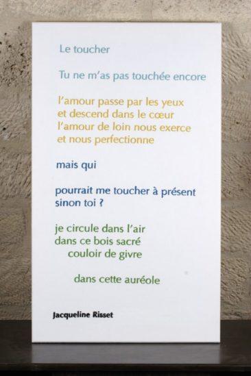 Le Toucher - Jacqueline Risset - 60 X 90 CM