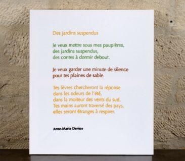 Des jardins suspendus - Anne-Marie Derèse - 60 X 70 CM