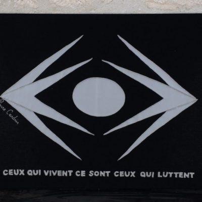Victor Hugo par Pierre Cardin - 70 X 50 CM