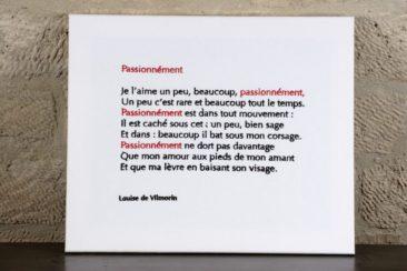 Passionnément - Louise de Vilmorin - 60 X 70 CM
