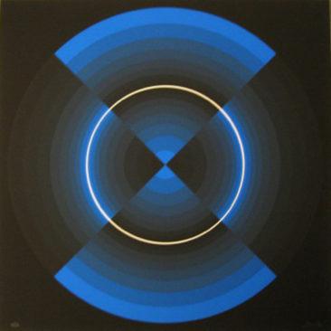 """Galerie Lélia Mordoch C9  Horacio Garcia Rossi  """"Couleur Lumière"""" - 1994 - Sérigraphie tirée à 50 exemplaires - 65 x 65 cm. Vendue au profit intégral de Dessine l'Espoir"""