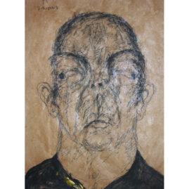 Polad Hardouin A14  Sabhan Adam 2005, technique mixte sur papier, 30 x 23 cm