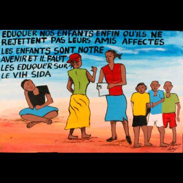 EDUQUONS NOS ENFANTS AFIN QU'ILS NE REJETTENT PAS LEURS AMIS INFECTES. LES ENFANTS SONT NOTRE AVENIR ET IL FAUT LES EDUQUER SUR LE VIH/SIDA. D saglg d kamba t'b dawa welg b mênsa ne b zoo râmb nins sên taar sida bâaga. Kamba yaa tond beog kamba ; raal ti d sagleb t'b bâng sida wâ bâaga sên yaa soaba.